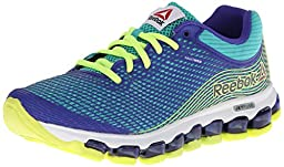 Reebok Zjet Running Shoe (Big Kid),Timeless Teal/Ultima Purple/Solar Yellow/White,6 M US Big Kid