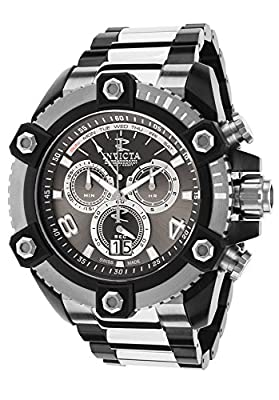 Invicta 13020 Men's Reserve Chrono Two-Tone Silver-Tone Dial Black Case