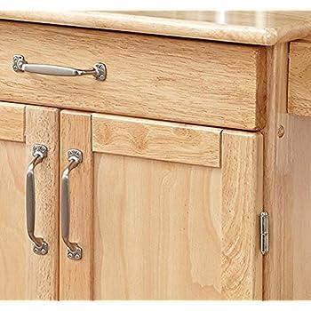 Home Styles 5040-95 Paneled Door Kitchen Cart, Natural Finish