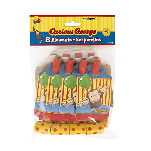 Curious George Party Blowers, 8ct - 1