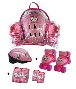 Hello Kitty - Bolsa con patin de ruedas + casco + 2 protecciones (D'Arpèje OHKY02)