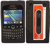 Retro Cassette Silicone Case Cover Shell For Blackberry Curve 9220 9320 / Black