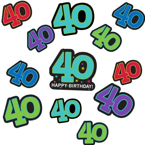 40th Celebration Value Pack Printed Paper Cutouts