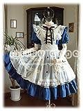 (ミルキーアンジェ) milky ange アンティーク アリス メイド Ⅵ XL ロイヤルブルー ミニ メイド服 コスプレ衣装