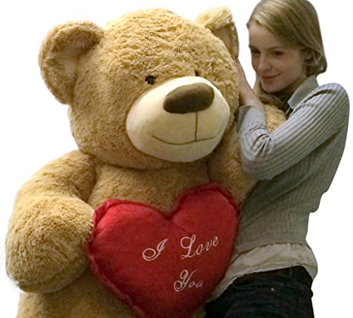 I-Love-You-Giant-Teddy-Bear-for-Valentines-Day-or-Any-Day-Five-Feet-Tall-Squishy-Soft-Holds-Big-Plush-Red-Heart-Pillow-Embroidered-with-the-Phrase-I-LOVE-YOU