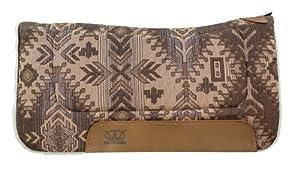 Weaver Leather All Purpose Fiesta Pattern Contoured Saddle Pad, Brown/Tan, 30 x 30-Inch