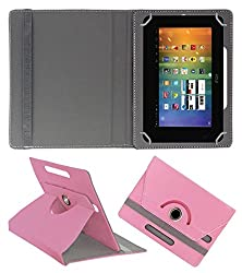 Acm Rotating 360° Leather Flip Case For Wishtel Ira Thing Cover Stand Light Pink
