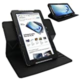 Celicious Black PU Leather Rotary Folio Stand Case for Samsung ATIV Smart PC 500T Samsung Ativ Smart PC 500T Case Executive & Premium Leatherette Texture
