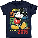 Disney Mens 2015 Neon Mickey Mouse T-Shirt Navy Medium T-Shirt