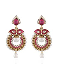 I Jewels Tradtional Gold Plated Elegantly Handcrafted Pair Of Fashion Earrings For Women. - B00N7INYWI