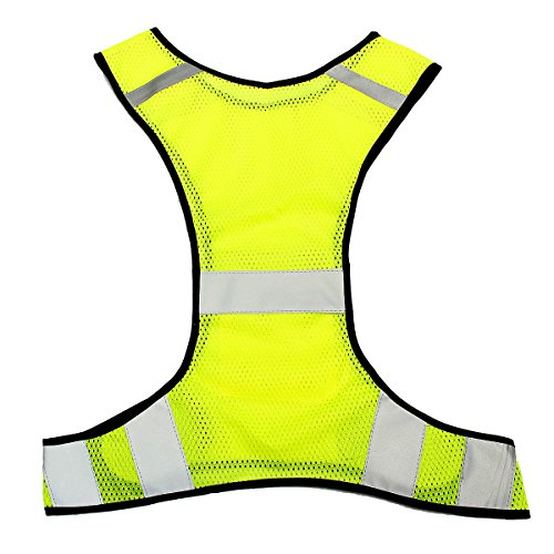 KING-DO-WAY-Gilet-Riflettente-Regolabile-Giacche-Catarifrangenti-Alta-Visibilit-Lavoro-Notturno-Giallo-Giallo-Fluorescente-47cmX55cm