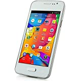 "SODIAL(R) Unlocked Quadband Dual Sim Android 4.2 OS with 4.0"" Touch Screen Unlocked Cell Phone - At&t, T-mobile, Simple Mobile - WHITE (NEWEST MODEL)"