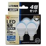 アイリスオーヤマ LED電球 E17口金 40W形相当 昼白色 広配光タイプ 4個セット 密閉形器具対応 LDA5N-G-E17-V3-4P