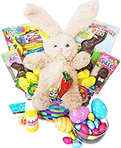 Classic Easter Gift Basket - Premade and Shrink-Wrapped, Kids, Boys, Girls