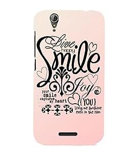 EPICCASE smile joy happy Mobile Back Case Cover For Acer Liquid Z630 (Designer Case)