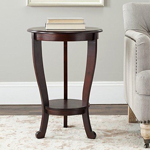 Safavieh American Home Collection Lexington Pedestal End Table, Dark Cherry (Accent Pedestal Table compare prices)
