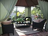 Outdoor Gazebo Patio Drapes Sage