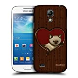 Head Case Cat In A Heart Wood Craft Back Case For Samsung Galaxy S4 Mini I9190