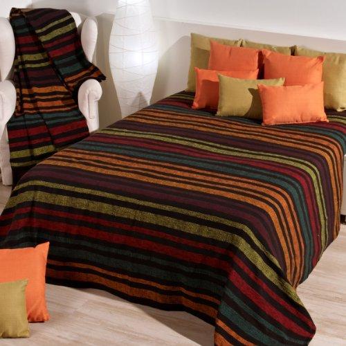 Sancarlos - FULAR MULTIUSOS A RAYAS DENALI NEGRO - 100% algodón - Jacquard - Varias tallas disponibles