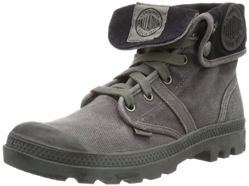 Palladium PALLABROUSE BAGGY~METAL/BLACK~M 92478-029-M, Scarpa classica stringata Donna(Schwarz (PALLABROUSE BAGGY~METAL/BLACK~M)