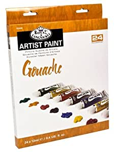 Amazon.com: Gouache color artista pintura Tube, 12 ml, 24-Pack