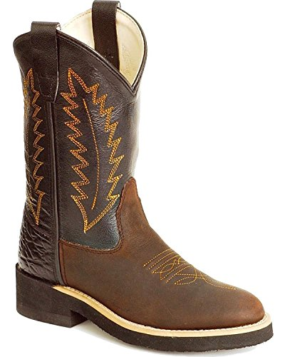 Old West Boys' Cowboy Boot Distressed US