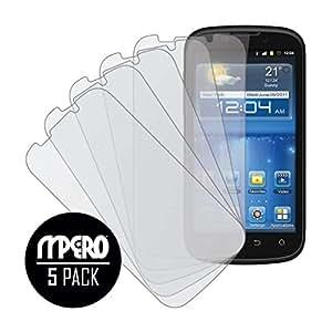 MPERO Collection Anti-Glare Screen Protectors for ZTE Grand X V970 5 Pack - Matte