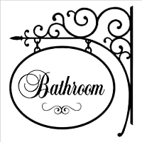 Bathroom Hang Sign wall saying vinyl lettering home decor decal stickers quotes by Wall Sayings Vinyl Lettering