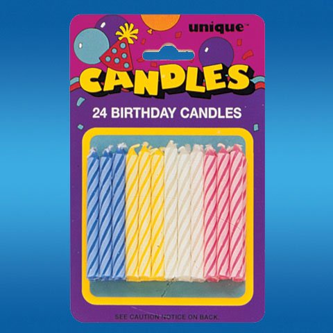 Unique Industries 24 Count Spiral Candles, Multicolor - 1