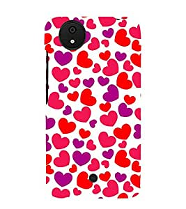 Little Heart 3D Hard Polycarbonate Designer Back Case Cover for Micromax Android A1 :: Micromax Canvas A1 AQ4502