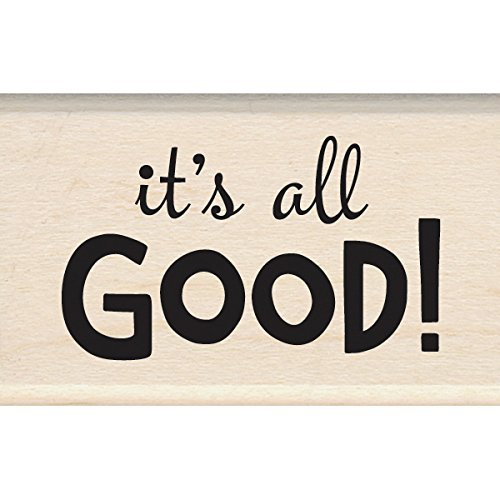 "Inkadinkado It's All Good Mounted Rubber Stamp, 2"" by 1.25"""
