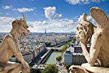 Gargoyle Statues At Notre Dame De Paris Cathedral France Europe Art Poster 28