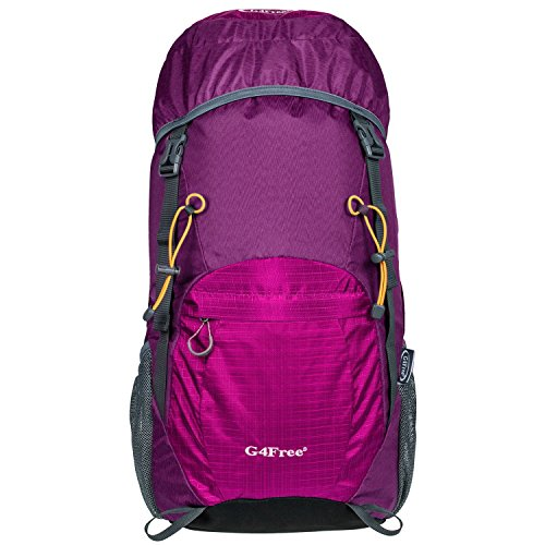 g4free-large-40l-lightweight-water-resistant-travel-backpack-foldable-packable-hiking-daypackpurple-