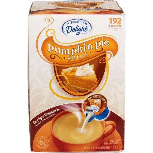 International Delight Pumpkin Pie Spice Coffee Creamer Pack of 192 Single Serve Cups