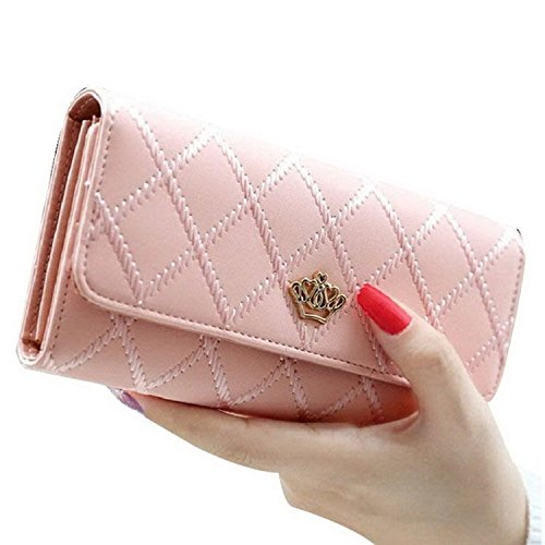 ankko-fashion-women-lady-pu-leather-wallet-crown-purse-pink