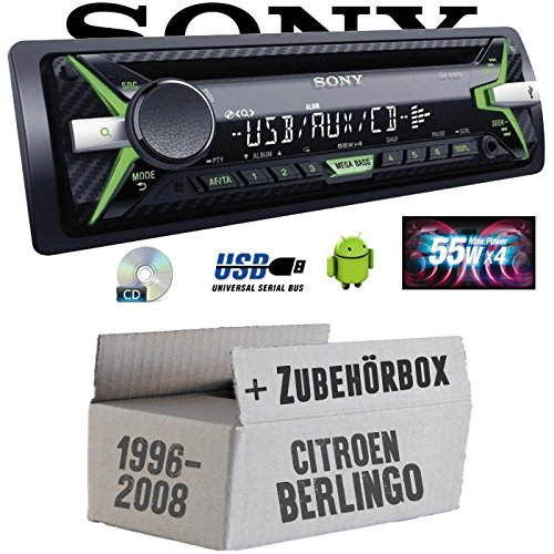 Citroen Berlingo - Sony CDX-G1102U - CD/MP3/USB Autoradio - Einbauset