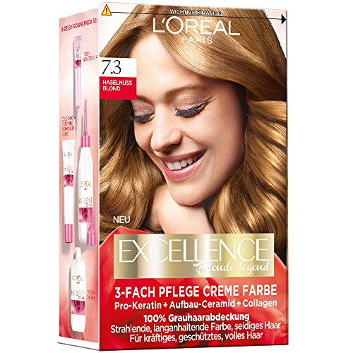 4037900673207 loral paris excellence creme coloration 73 haselnublond - Coloration Excellence