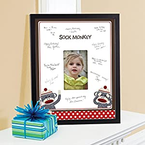 Birthday Express - Sock Monkey Framed Signature Matte
