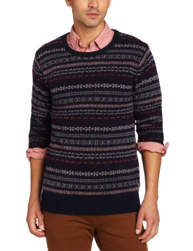 Where To Buy Scotch & Soda Men's Fair Isle Crewneck Sweater, Blue ...