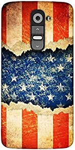 Snoogg Grunge America Designer Protective Back Case Cover For LG G2