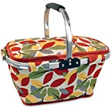 DII Insulated Market Basket or Picnic Tote for Farmers Markets and BBQ's, Grocery Shopping, Fall Leaves