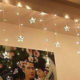 サクララ(Sakulala) イルミネーションライトLED 1.5M x 0.5M 48球 室内装飾 クリスマスツリー、ワードローブ、結婚式、電飾、ガーデンパーティー、フェンス、パティオ 飾り 省エネ スター