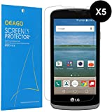[5-Pack] OEAGO LG K4 Screen Protector [Full Screen Coverage] High Definition (HD) Clear Shield for LG K4 / LG Spree / LG Rebel LTE with Retail Packaging