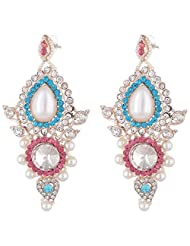 Bel-en-teno Pink & Blue Alloy Earring Set For Women - B00PY9X978