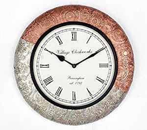 buy universal art traditional wall clock with copper and
