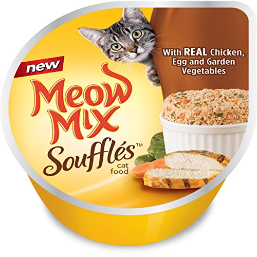 Meow Mix Soufflés With Real Chicken, Egg And Garden Vegetables