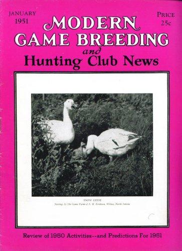 Modern Game Breeding & Hunting Club News Review Of 1950 Quail Disease + 1 1951
