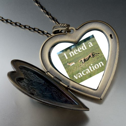 I Need A Vacation Large Pendant Necklace