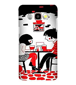 Printvisa Love Couples Dining Back Case Cover for Samsung Galaxy J5 (2016)::Samsung J510F