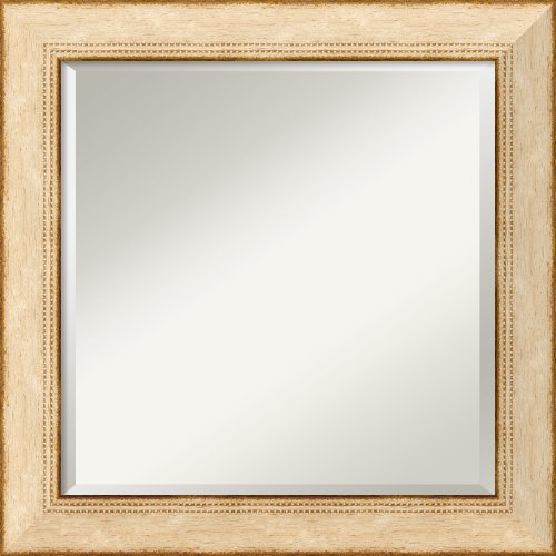 Highland Park Cream Mirror - Square Framed front-1087434
